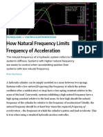 How Natural Frequency Limits Frequency of Acceleration _ Hydraulics & Pneumatics