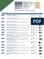 Katalog opreme za video nadzor - CCTV - 19.01.2011