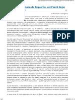 Portogallo _ Il Bloco de Esquerda, vent'anni dopo