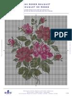PAT0678+Secret+Garden+-+Pink+Roses+BouquetPAT0678