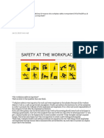 IMPORTANCE OF WORK SAFETY