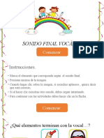 SONIDO FINAL VOCALICO