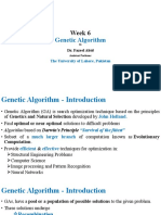 Lecture 6 Genetic Algorithms
