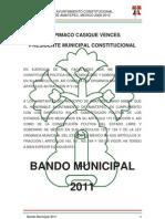 Bando Municipal Amatepec 2011