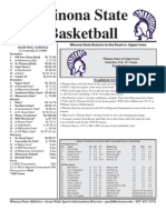 Winona State Men's Basketball Feb. 8, 2011 Game Notes