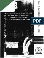 CORFO, depto de recursos hidraulicos (1969) - Division hidrogr__fica n__604. Pampa de tamarugal, catastro de pozos