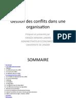 Gestion des conflits dans une organisation