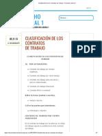 Clasificación de los Contratos de Trabajo – Derecho Laboral 1.pdf