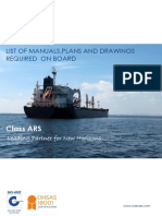 Class ARS Technical Publication 03 - List of Manuals,Plans and Drawings Required on board
