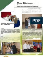 Boletin 189 Informe Misionero Paraguay - Noviembre 5 de 2010