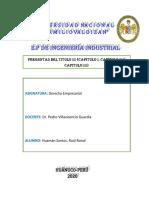 PREGUNTAS DERECHO EMPRESARIAL