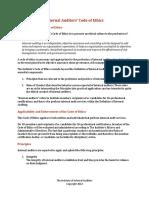 Code of Ethics IIA