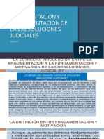 ARGUMENTACION Y FUNDAMENTACION DE LAS RESOLUCIONES JUDICIALES 05.08.19