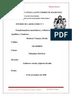 LABORATORIO 03 TRANSFORMADORES ELECTRICOS- Rentería Vásquez Rosita