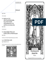 Commemoration of All the Deceased of the Seraphic Order - Booklet (Black)