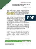 As transformações do direito de família brasileiro à luz da CF. Fabíola Lobo