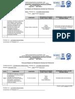 Ficha para Registro do Planejamento Semanal dos Professores 26 a 31.10