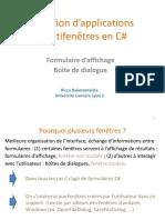 C-Sharp - Appli MultiFenetres