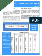 Consumer Price Index - Aug 20