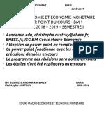 Cours Macro Economie Et Economie Monetaire Bm 1 Isg 2018 2019