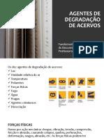 AGENTES DE DEGRADAÇÃO DE ACERVOS PARTE II