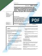 NBR 13278 - 1995 Determinação da densidade de massa e do teor de ar incorporado