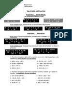 TALLER 1 DE MATEMATICA Propiedad Conmutativa