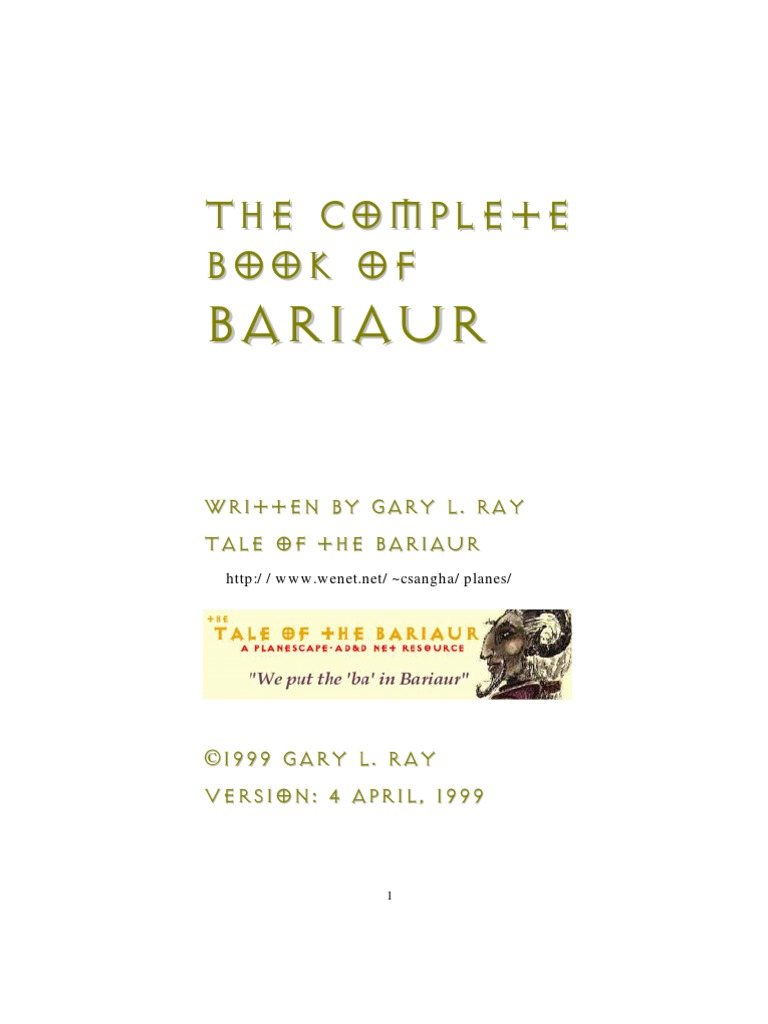 Ps The Complete Book of Bariaur   Mysticism   Shamanism
