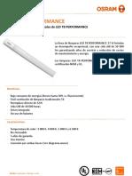 Ficha Tecnica LED Tube T8 17W - 80109, 80110, 80111, 80112