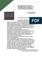 Pierre Raymond charlatan en philosophie ignare en gnoséologie En défense de Marx Engels et Lénine philosophes matérialistes
