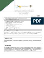 Ficha Bibliográfica - Memoria