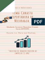 Canasta exportadora Nicaragua