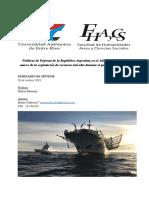Políticas de Defensa de la República Argentina en el Atlántico Sur en el marco de la explotación de Recursos Ictícolas
