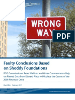 Faulty Conclusions Based on Shoddy Foundations