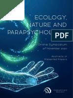 Ecology, Nature and Parapsychology