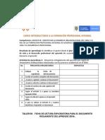 6.  Taller 06  Ficha Textual  Reglamento del Aprendiz