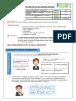 Ficha de Educación para el trabajo