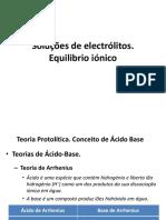 TemaIV(Aula 2)-Equilibrio Ionico e Solubilidade
