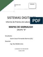 Informe 3. Mapas de Karnaugh