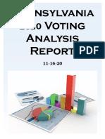 PA 2020 Voter Analysis Report
