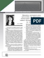 Educatie ecologica prin activitati de explorare_investigare a mediului in cadrul disciplinei Stiinte in clasele primare