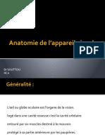01 - Anatomie de L_appareil Visuel - Dr Souttou Hca