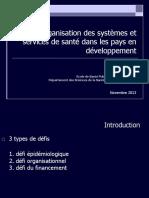 6 - Organisation des systemes de sante dans les PED, jeudi 7 novembre 2013, Dr Porignon +++.pdf