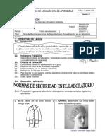 Normas de Seguridad Laboratorio Tr.-2o