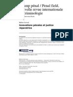 Innovations pénales et justice réparatrice