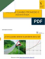 RAZON DE CAMBIO PROMEDIO Y DERIVADA