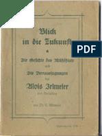 Adlmaier, Conrad - Blick in die Zukunft - Die Gesichte des Mühlhiasl und des Alois Irlmaier