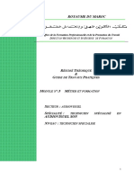 M05 Métier Et Formation en Audiovisuel-AV-TSA Option SON