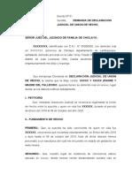 DEMANDA DE UNION DE HECHO VIUDA DE POLICIA