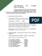 Dados Da Classe Trabalhadora No Brasil. 2002